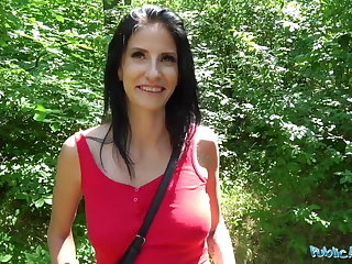 Public Agent Busty horny lady gets fucked in the woods for c